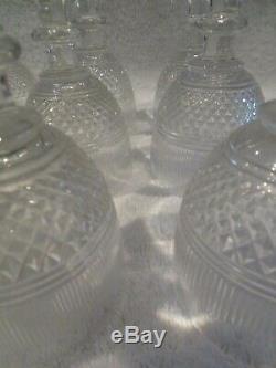 Rare 13 verres à vin 11,5cl cristal Saint Louis Le Creusot crystal wine glasses