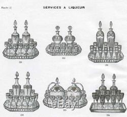 Rare Saint Louis Congress Service A Liqueur 7 Verres A Liqueur Carafe Cristal