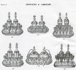 Rare Saint Louis Congress Service A Liqueur 8 Verres A Liqueur Carafe Cristal