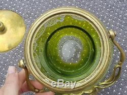 Rare Sceau A Biscuit Art Nouveau En Cristal Verre Grave De Saint Louis