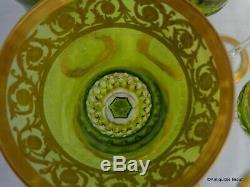 Roemers Chartreuse St Louis Cristal Thistle Or 20.8cm parfait état
