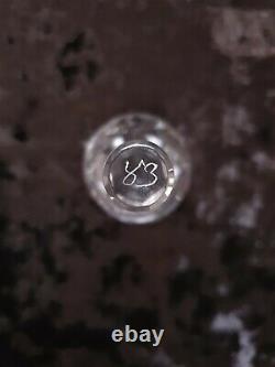 SAINT LOUIS 11 VERRES PORTO ET CARAFE CRISTAL TAILLE modèle ADOUR LOT N° 5/7