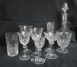 SAINT LOUIS 6 chopes / verres à orangeade CRISTAL taillé modèle TOMMY SIGNES