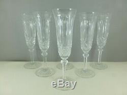 SAINT LOUIS 6 flûtes à champagne TOMMY cristal 20 cm estampillés