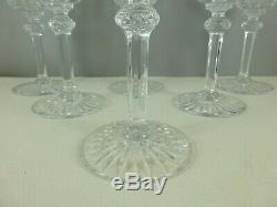 SAINT LOUIS 6 verres à vin TOMMY cristal 15 cm estampillés