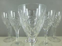 SAINT LOUIS 6 verres à vin modèle CHANTILLY cristal taillé 15 cm estampillés