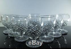 SAINT LOUIS 8 verres à pied forme Ballon modèle Tacite SIGNES