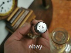 SAINT LOUIS France CARAFE a VIN Modele THISTLE 355mm Cristal Cisele Dore Grave