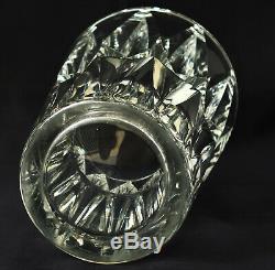 SAINT-LOUIS modèle CAMARET Grand Vase en Cristal Taillé ca 1950/60 Signé