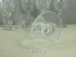 SAINT LOUIS modèle MESSINE 6 verres à vin cristal estampillés 15 cm lot n°1