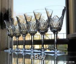ST LOUIS 6 verre à EAU OU VIN en cristal crystal glasses (BACCARAT)