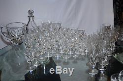 ST. LOUIS 6 verres à DIGESTIFS en cristal taillé, modèle BIDASSOA