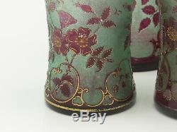 Saint Louis 1900 Rares 5 flacons de toilette 1900 Cristal givré