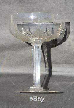 Saint Louis 6 Coupes A Champagne En Cristal Taille