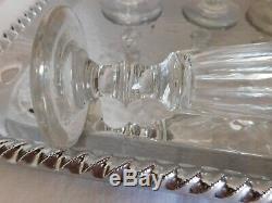 Saint Louis 6 flutes à champagne modèle Caton cristal taillé 19ème