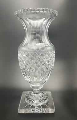 Saint Louis Baccarat Grand Vase Empire Médicis Cristal Taillé Pointe Diamant