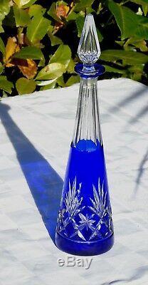 Saint Louis Carafe à liqueur en cristal doublé, modèle Massenet