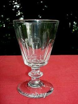 Saint Louis Caton 4 Verre A Eau Vin Cristal Taillé Cotes Plates Weingläser 19ème