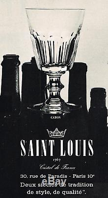 Saint Louis Caton Wine Decanter Jug Broc Pichet Carafe A Vin Orangeade Cristal
