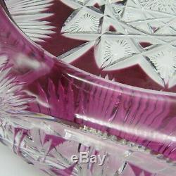 Saint-Louis. Centre de table en cristal taillé à décor d'une rosace XXe