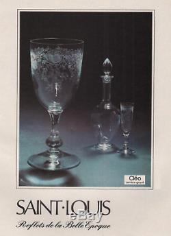 Saint Louis Cléo Wine Water Crystal Decanter Carafe A Vin Eau Cristal Gravé