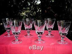Saint Louis Jersey 6 Wine Glasses 6 Verres A Vin Paquebot France Cristal Taillé