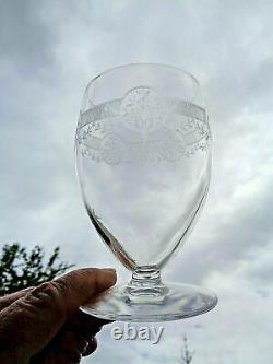 Saint Louis Ligier Pan 130 Water Wine Glasses Verre A Eau Cristal Gravé Art Deco