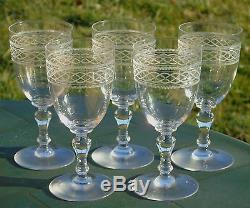 Saint Louis Lot de 5 verres à eau en cristal, modèle Mimosa