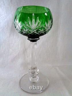 Saint Louis Massenet 6 Verres Vin Cristal Roemer Taillé Doublé De Couleur Coloré