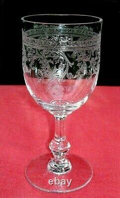 Saint Louis Metz Water Glasses Verre A Eau Vin Cristal Gravé Napoleon III 19eme