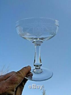 Saint Louis Sapho Panier Fleuri Champagnergläser Coupe A Champagne Cristal Gravé