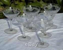 Saint Louis Service de 6 coupes à champagne en cristal, modèle Manon