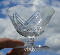 Saint Louis Service de 6 coupes à champagne en cristal taillé, modèle Vosges