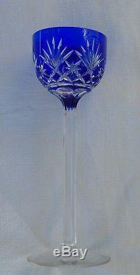 Saint Louis Service de 6 verres à apéritif en cristal doublé, modèle Massenet