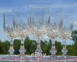 Saint Louis Service de 6 verres à eau en cristal taillé, modèle Massenet
