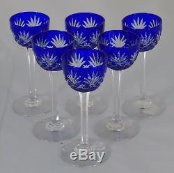 Saint Louis Service de 6 verres à liqueur en cristal doublé, modèle Massenet