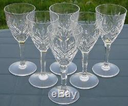 Saint Louis Service de 6 verres à vin rouge en cristal taillé modèle Chantilly
