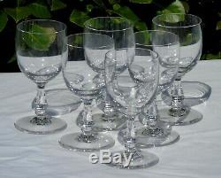 Saint Louis Service de 6 verres à vin rouge en cristal taillé, modèle Lucrèce