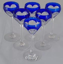 Saint Louis Service de 6 verres en cristal doublé taillé