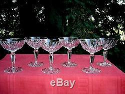 Saint Louis Stl5 Tall Sherbet Glasses Coupes A Champagne Cristal Taillé Baccarat