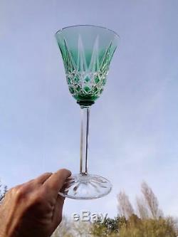 Saint Louis Tarn 6 Verres A Vin Roemer Roemers Cristal Taillé De Couleur Coloré