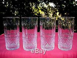 Saint Louis Tommy 4 Highball Whiskey Glasses 4 Verres Gobelet A Whisky Cristal