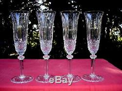 Saint Louis Tommy 4 Tall Fluted Sektgläser Flute A Champagne Cristal Taillé