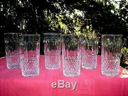 Saint Louis Tommy 6 Highball Whiskey Glasses 6 Verres Gobelet A Whisky Cristal