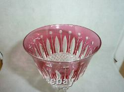 Saint Louis Tommy Verre A Pied Cristal Signé Crystal Glass Kristallgl H 20 CM