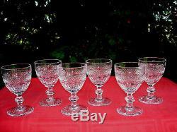 Saint Louis Trianon Wine Glasses Verres A Vin Cristal Taillé 19ème Xixème Empire