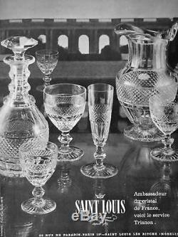 Saint Louis Trianon Wine Glasses Verres A Vin Cristal Taillé 19ème Xixème Empire