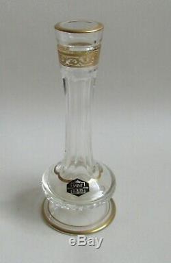Saint-Louis. Vase soliflore en cristal modèle Thistle or, XXe siècle