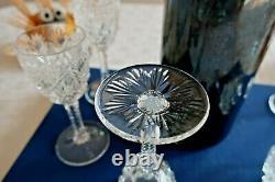 Saint Louis cristal, service Florence. 7 verres à liqueur. H11cm. Estampillés