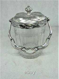 Seau Pot A Biscuits Cristal Saint Louis Art Nouveau Old Biscuit Crystal Jar